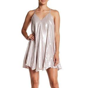 • never worn • Sequin Hearts Metallic dress
